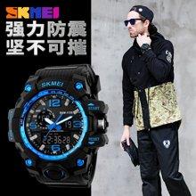 时刻美男士大表盘防水电子手表时尚多功能户外运动潮流男学生腕表1155