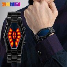 时刻美个性男表防水时尚酷炫男学生户外运动手表LED双色灯显腕表1082