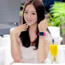 时刻美男款LED手表创意中性表女款防水情侣手表时尚男女学生手表0890C