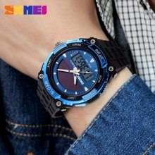 时刻美男士时尚太阳能手表防水双机电子潮流户外运动男表学生腕表1049