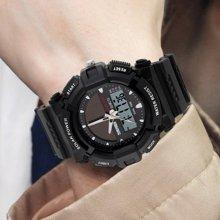 时刻美个性太阳能手表时尚电子双显防水户外运动男表潮流学生腕表1050