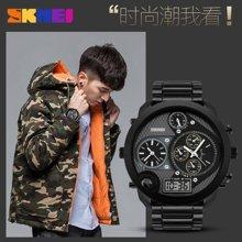 时刻美潮流男士手表防水电子表个性大表盘男表时尚双显示商务腕表1170
