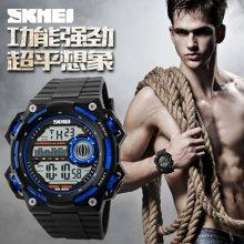 时刻美男士大表盘防水电子手表户外运动男表多功能男学生个性腕表1115