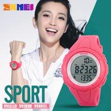 时刻美男表个性时尚户外运动电子手表防水多功能计步男女学生腕表1108