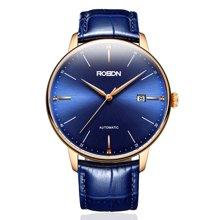 劳士顿手表男机械表男表 全自动正品时尚简约男士手表真皮手表