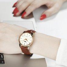 冠琴 女士手表时尚潮流皮表带腕表 全自动精钢防水机械表韩版女表 GJ16043-1A