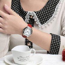 冠琴正品 女表防水石英表 时尚潮流真皮带手表休闲女学生腕表G6807M