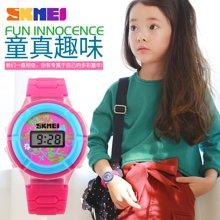 时刻美男表潮流时尚女表个性三色彩灯电子表男女学生儿童手表腕表1097