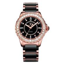 专柜同款 天王表 尚SHINE系列LS3608PB/D钢带女表进口石英机芯 黑色