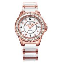 专柜同款 天王表 尚SHINE系列LS3608PW/D钢带女表进口石英机芯 白色