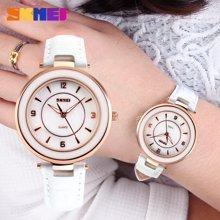 时刻美时尚女士手表皮带简约经典复古防水石英休闲女学生气质腕表1059