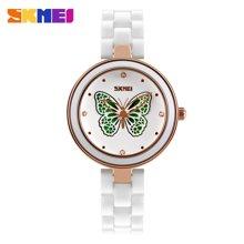 时刻美陶瓷女士手表时尚防水石英指针腕表优雅气质复古时装手表9131