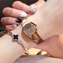 劳士顿新款女士手表时尚潮流简约钨钢手表女表手表正品防水石英表