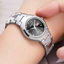 劳士顿手表女士手表正品钨钢女表防水时尚潮流简约新款石英表女