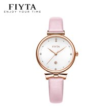 飞亚达Young+系列女士手表时尚潮流粉色石英女表DL851006.PWF【 送丝巾、颜色随机】