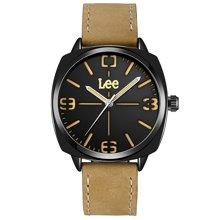 LEE男表 时尚潮流简约男手表石英表防水皮带男士手表腕表LES-M75
