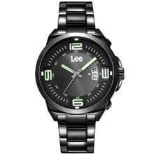 LEE男表 新款时尚手表大开面表盘不锈钢防水石英表LES-M67