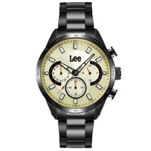 LEE男表 多功能夜光防水型男系手表 不锈钢石英表LES-M20