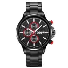 LEE男表 新款正品大表盘手表防水不锈钢指针式石英表LES-M07