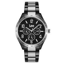 LEE手表 钢带男表时尚潮流日历指针式情侣表石英表LEF-M33