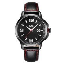LEE手表 新款不锈钢石英表大表盘时尚日历防水男表LES-M06