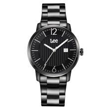 LEE男表 皮带男表时尚防水指针式石英表男士手表LEF-M09
