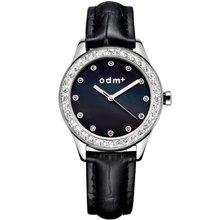 正品ODM新款手表时尚简约女表贝母表盘水钻表皮带女士手表DM024