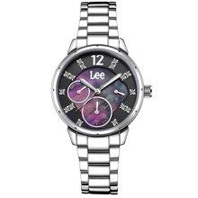 LEE女表 时尚潮流手表双显示大开面表盘防水石英表LEF-F39