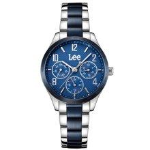 LEE手表 时尚潮流情侣表女款指针式钢带石英女表LEF-F18