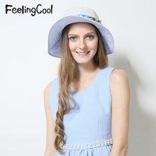 飞兰蔻2017新品女士清新蕾丝透气遮阳帽 舒适太阳帽 夏帽