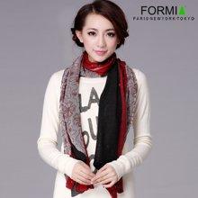 Formia芳美亚围巾新款羊毛围巾女长款披肩百搭拼色围巾SL6800120