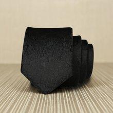 Evanhome/艾梵之家 新款韩版5CM领带男窄款 商务休闲百搭纯黑色古典花纹领带L5102