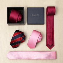 Evanhome/艾梵之家 韩版粉色领带男窄版5cm小领带男士新郎结婚礼盒装[下单备注花色]L5046 -1