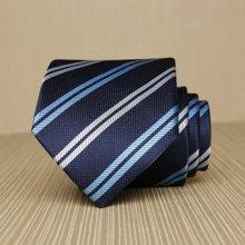 Evanhome/艾梵之家 男士英伦条纹领带8cm简约百搭商务藏青色正装领带男L8052