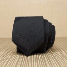 Evanhome/艾梵之家 领带男韩版窄版5cm潮商务休闲 纯黑色小领带男 L5044