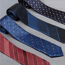 Evanhome/艾梵之家 职业领带男正装商务7cm工作男士韩版蓝色藏青色条纹领带[下单备注花色]L7126-1
