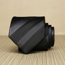 Evanhome/艾梵之家 纳米防水领带7cm英伦职业正装 黑色暗条纹领带色织L7011