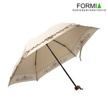 FORMIA 雨伞折叠公主伞太阳伞防紫外线晴雨伞防晒遮阳伞BL6810702  白色