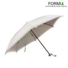 Formia芳美亚时尚蕾丝花边阳伞洋伞防紫外线防晒色胶黑胶UV遮阳伞 米色