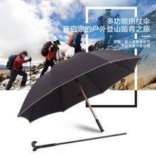 雨景超强加固老人拐杖伞 创意长柄晴雨伞半自动伞礼品雨伞