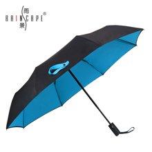 雨景全自动男女士商务雨伞 创意自动开收双层双色抗风三折晴雨伞