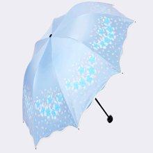 天堂伞 花儿公主女士超轻黑胶伞 防晒防紫外线遮阳伞 晴雨伞 33401E