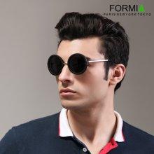 FORMIA芳美亚男士太阳镜潮人偏光镜时尚墨镜司机驾驶镜眼镜开车专用   圆黑色