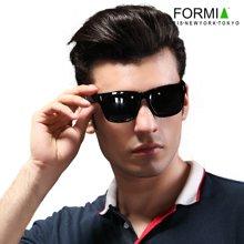 FORMIA芳美亚男士太阳镜潮人偏光镜时尚墨镜司机驾驶镜眼镜开车专用   黑色