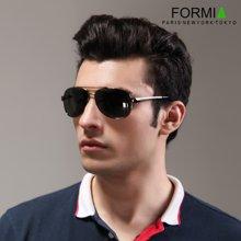 Formia芳美亚男士太阳镜潮人偏光镜时尚墨镜司机驾驶镜眼镜开车专用  灰色(绿镜灰框)