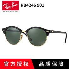 雷朋新品 RayBan太阳镜男女RB4246 板材圆框复古可配近视墨镜