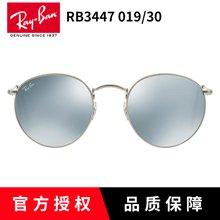 雷朋太阳镜男女RB3447 019 30彩膜 复古圆框个性时尚可配近视墨镜