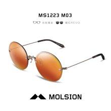 MOLSION陌森太阳镜女款圆框墨镜女潮MS1223时尚百搭潮流眼镜