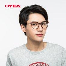 oyea复古纤细板材全框时尚近视眼镜男女款眼镜框架含近视片M3142