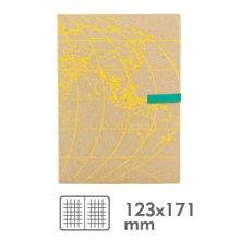 香港 Daycraft 德格夫旅游日志系列笔记本(黄色地图封面)